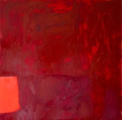 "Blood Stone "" 40"" x 40"" Oil, Wax, Acrylic"