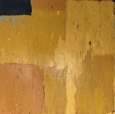 "Float over Fields 40"" x 40"" oil, wax, acrylic"