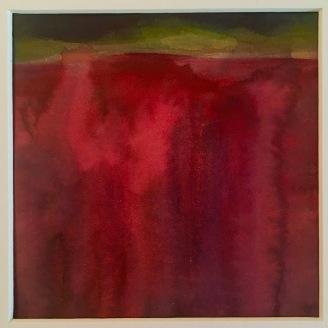 """Poppy field Watercolour 8"""" x8"""""""